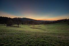 Ηλιοβασίλεμα στο μαύρο δάσος, Γερμανία στοκ φωτογραφία με δικαίωμα ελεύθερης χρήσης