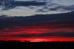 Ηλιοβασίλεμα στο Μινσκ Στοκ εικόνες με δικαίωμα ελεύθερης χρήσης