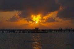 Ηλιοβασίλεμα στο νησί των Μαλδίβες Στοκ φωτογραφίες με δικαίωμα ελεύθερης χρήσης