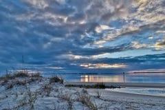 Ηλιοβασίλεμα στο νησί Jekyll Στοκ Φωτογραφία