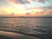 Ηλιοβασίλεμα στο νησί Kurumba, Μαλδίβες Στοκ Εικόνες