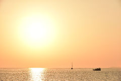 Ηλιοβασίλεμα στο νησί Lipe Στοκ εικόνες με δικαίωμα ελεύθερης χρήσης