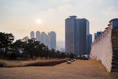 Ηλιοβασίλεμα στο πάρκο Namsan στοκ εικόνα με δικαίωμα ελεύθερης χρήσης