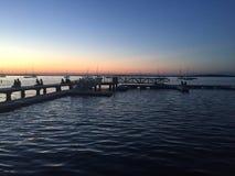 Ηλιοβασίλεμα στο πεζούλι Στοκ εικόνα με δικαίωμα ελεύθερης χρήσης