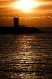 Ηλιοβασίλεμα στο φάρο 3 Στοκ Φωτογραφίες