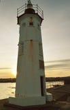 Ηλιοβασίλεμα στο φάρο Chalmers, Anstruther, Fife, Σκωτία Στοκ εικόνα με δικαίωμα ελεύθερης χρήσης