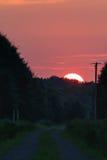 Ηλιοβασίλεμα στο φαλακρό καταφύγιο άγριας πανίδας εξογκωμάτων στο φαλακρό εξόγκωμα στοκ εικόνα