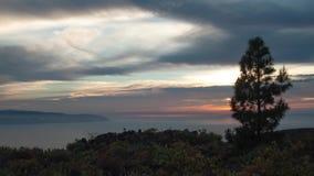 Ηλιοβασίλεμα στο χρονικό σφάλμα νησιών απόθεμα βίντεο