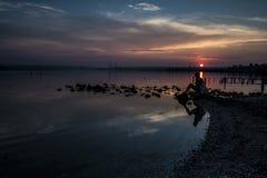 Ηλιοβασίλεμα στο χωριό Kazashko Στοκ Εικόνες
