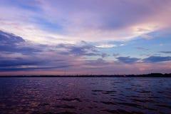 Ηλιοβασίλεμα στο arkhangelsk Στοκ εικόνες με δικαίωμα ελεύθερης χρήσης