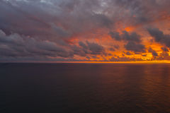 Ηλιοβασίλεμα στο decuba του Σαντιάγο Στοκ Φωτογραφίες
