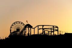 Ηλιοβασίλεμα στο Santa Monica Pier Στοκ Φωτογραφία