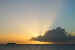 Ηλιοβασίλεμα στο ST Maarteen Στοκ εικόνες με δικαίωμα ελεύθερης χρήσης