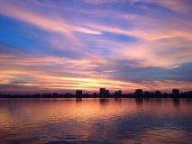 Ηλιοβασίλεμα στο westlake Στοκ εικόνες με δικαίωμα ελεύθερης χρήσης