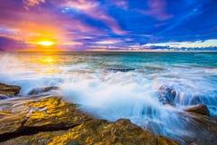 Ηλιοβασίλεμα συντριβής Στοκ Εικόνες