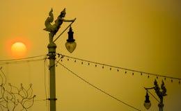 ηλιοβασίλεμα Ταϊλάνδη Στοκ εικόνες με δικαίωμα ελεύθερης χρήσης