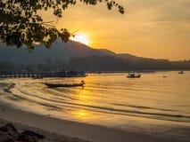ηλιοβασίλεμα Ταϊλάνδη Στοκ φωτογραφία με δικαίωμα ελεύθερης χρήσης