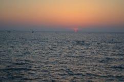 ηλιοβασίλεμα της Αιγύπτου Στοκ φωτογραφίες με δικαίωμα ελεύθερης χρήσης