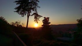 Ηλιοβασίλεμα της Βαρκελώνης στοκ φωτογραφίες