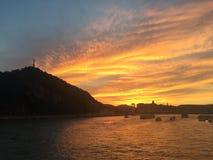 Ηλιοβασίλεμα της Βουδαπέστης Στοκ φωτογραφίες με δικαίωμα ελεύθερης χρήσης