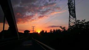 ηλιοβασίλεμα της Γερμανίας στοκ φωτογραφίες