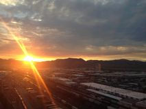 Ηλιοβασίλεμα της Γιούτα Στοκ Φωτογραφία