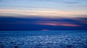 ηλιοβασίλεμα της θάλασ&si Στοκ φωτογραφία με δικαίωμα ελεύθερης χρήσης