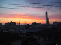 ηλιοβασίλεμα της Ιαπωνίας Στοκ Φωτογραφίες