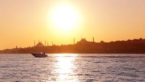 Ηλιοβασίλεμα της Ιστανμπούλ Στοκ Εικόνα