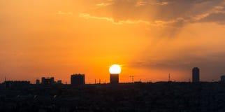 Ηλιοβασίλεμα της Ιστανμπούλ Στοκ Φωτογραφία