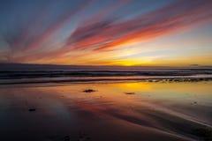 ηλιοβασίλεμα της Ισλαν& Στοκ φωτογραφίες με δικαίωμα ελεύθερης χρήσης