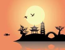 Ηλιοβασίλεμα της Κίνας Στοκ Εικόνες