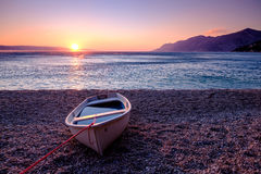ηλιοβασίλεμα της Κροατίας Στοκ φωτογραφία με δικαίωμα ελεύθερης χρήσης