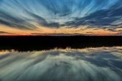 Ηλιοβασίλεμα της Λουιζιάνας Στοκ φωτογραφία με δικαίωμα ελεύθερης χρήσης