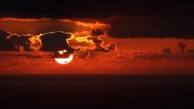 Ηλιοβασίλεμα της Μαδέρας Στοκ Φωτογραφία
