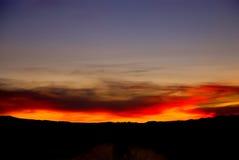 Ηλιοβασίλεμα της Νεβάδας Στοκ Εικόνα