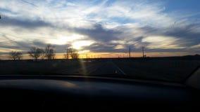Ηλιοβασίλεμα της Οκλαχόμα στοκ εικόνα