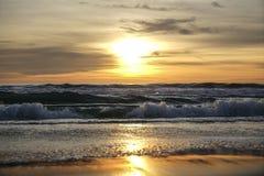 Ηλιοβασίλεμα της Σάντα Μόνικα στοκ εικόνες με δικαίωμα ελεύθερης χρήσης