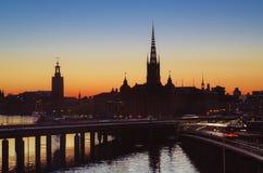 Ηλιοβασίλεμα της Στοκχόλμης Στοκ Εικόνες