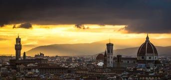 Ηλιοβασίλεμα της Φλωρεντίας Στοκ εικόνες με δικαίωμα ελεύθερης χρήσης