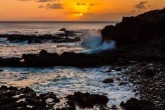 ηλιοβασίλεμα της Χαβάης Στοκ Εικόνα