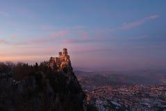 Ηλιοβασίλεμα του Άγιου Μαρίνου Στοκ εικόνα με δικαίωμα ελεύθερης χρήσης