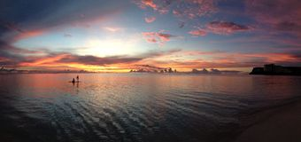 Ηλιοβασίλεμα 4 του Γκουάμ Στοκ φωτογραφία με δικαίωμα ελεύθερης χρήσης