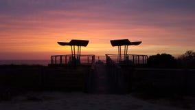 ηλιοβασίλεμα του Κίεβ&omic Στοκ εικόνα με δικαίωμα ελεύθερης χρήσης
