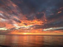 Ηλιοβασίλεμα του Μίτσιγκαν Στοκ Φωτογραφία