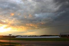 Ηλιοβασίλεμα 3 του Ουισκόνσιν Στοκ Εικόνες