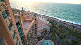 Ηλιοβασίλεμα του περσικού Κόλπου από το δωμάτιο ξενοδοχείου Atlantis φιλμ μικρού μήκους