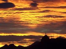 Ηλιοβασίλεμα του Ρίο Στοκ εικόνα με δικαίωμα ελεύθερης χρήσης
