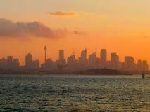 Ηλιοβασίλεμα του Σίδνεϊ στοκ φωτογραφία