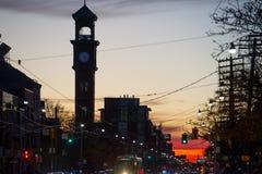 Ηλιοβασίλεμα του Τορόντου στοκ φωτογραφίες με δικαίωμα ελεύθερης χρήσης